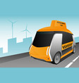 autonomous self driving taxi vector image