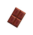 bar choco isolated piece chocolate candy vector image vector image
