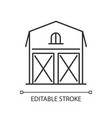 barn pixel perfect linear icon vector image