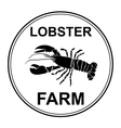 black lobster vector image