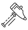 blacksmith sledge hammer icon outline style vector image