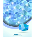 Blue abstract office and technology background vector image vector image