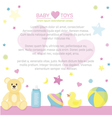 Border of baby care supplies with place for your vector image vector image