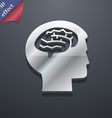 Brain icon symbol 3D style Trendy modern design vector image