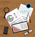 business planning and accounting vector image vector image