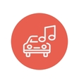 Car with music thin line icon vector image vector image