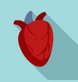 cardiac human heart icon flat style vector image vector image