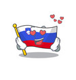 cartoon flag slovenia isolated in character in vector image vector image