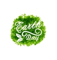 Celebration Background for Earth Day Lettering vector image vector image