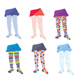 Children tights set with patterns vector image vector image