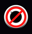Circle prohibited sign for no durian allowed vector image