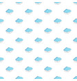 cloud with snowflakes pattern vector image vector image