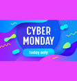 cyber monday big sale advertising banner vector image
