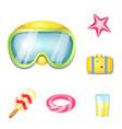 Design of equipment and swimming symbol