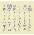 Doodle back to school set vector image