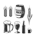 elements for vintage beer festival labels vector image
