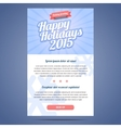 Email template with greeting Christmas and Happy vector image vector image