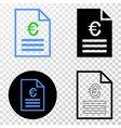 euro price page eps icon with contour vector image