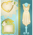 Fashionable dresses vector image vector image