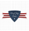 Fourth of July Sale Label with Ribbon vector image vector image