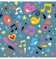 fun music seamless pattern vector image