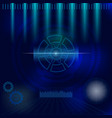 futuristic user interface background vector image