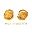 golden circle frame and wax seal set vector image vector image