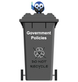 GOVERNMENT POLICY BIN vector image vector image