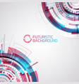 gradient futuristic interface background vector image vector image