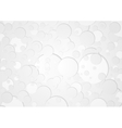 Grey circles tech geometric background vector image vector image