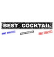 grunge best cocktail scratched rectangle stamps vector image vector image