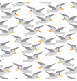 gulls flying pattern background vector image