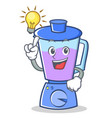 have an idea blender character cartoon style vector image vector image