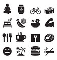 healthy icons set vector image vector image