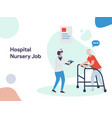 hospital nursery job vector image vector image