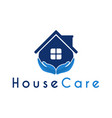 house care hand logo design template vector image vector image
