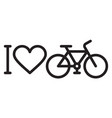 i love my bike vector image