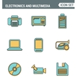 Icons line set premium quality of home electronics vector image vector image