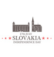 Independence Day Slovakia vector image vector image