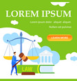 law lessons courses online class landing page vector image vector image