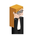 lego half body female judge with glasses vector image vector image
