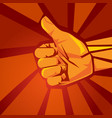 like thumbs up hand sign symbol yes agree vector image