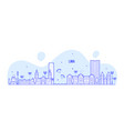 lima skyline peru city buildings linear vector image vector image