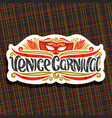 logo for venice carnival vector image