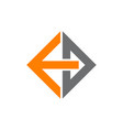 logo letter e d vector image