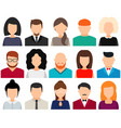 men and women avatars without face icon set vector image