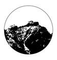 miss cascade mountain in a circle vector image vector image
