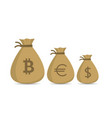 money bag set vector image vector image
