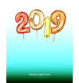 new year count symbol balloon soft nature greeting vector image vector image