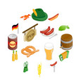 oktoberfest party isometric 3d icons vector image vector image